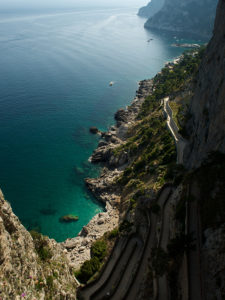 Winding Road, Capri, Italy